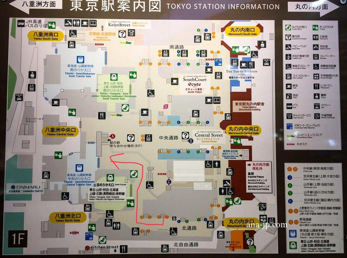 図 構内 東京 駅