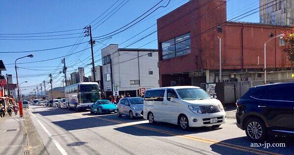 日光駅前の渋滞